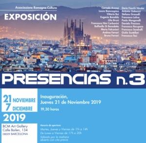 """""""PRESENZE N. 3"""".  GLI  ARTISTI   ITALIANI IN MOSTRA ALLA  BCM ART GALLERY  A BARCELLONA DAL  21 NOVEMBRE  AL 7 DICEMBRE 2019"""