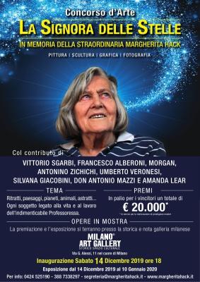 CONCORSO D'ARTE LA SIGNORA DELLE STELLE-In memoria di Margherita Hack 14 dicembre  2019