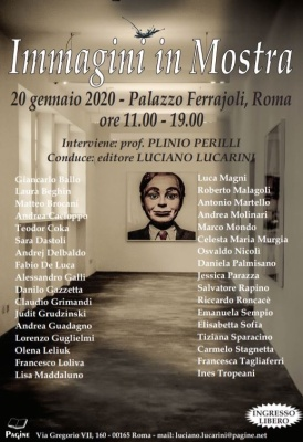 IMMAGINI E PAROLE - PALAZZO FERRAJOLI ROMA 20 GENNAIO 2020