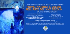 FORME, MATERIE E COLORI NELL'ARTE DEL XXI SECOLO - ANACAPRI