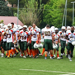 Football Americano play off Dolphins Ancona Giants Bolzano