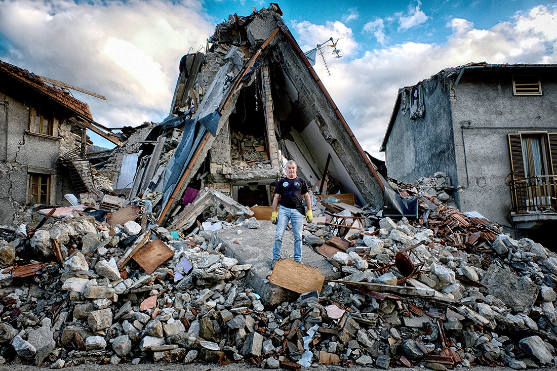 After the earthquake in central Italy