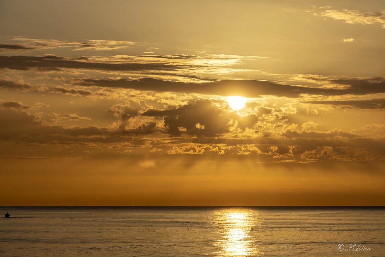 L'ALBA - Ci sono due cose delle quali non potrò fare a meno per il resto della mia vita: il sole e il mare. Il mare è vita. Il sole è la linfa. Tra essi l'alba racchiude il senso dell'esistenza. (Anonimo)