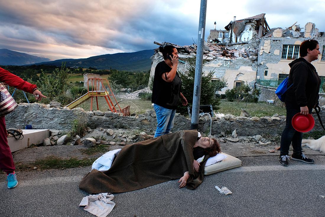 Earthquake center Italy