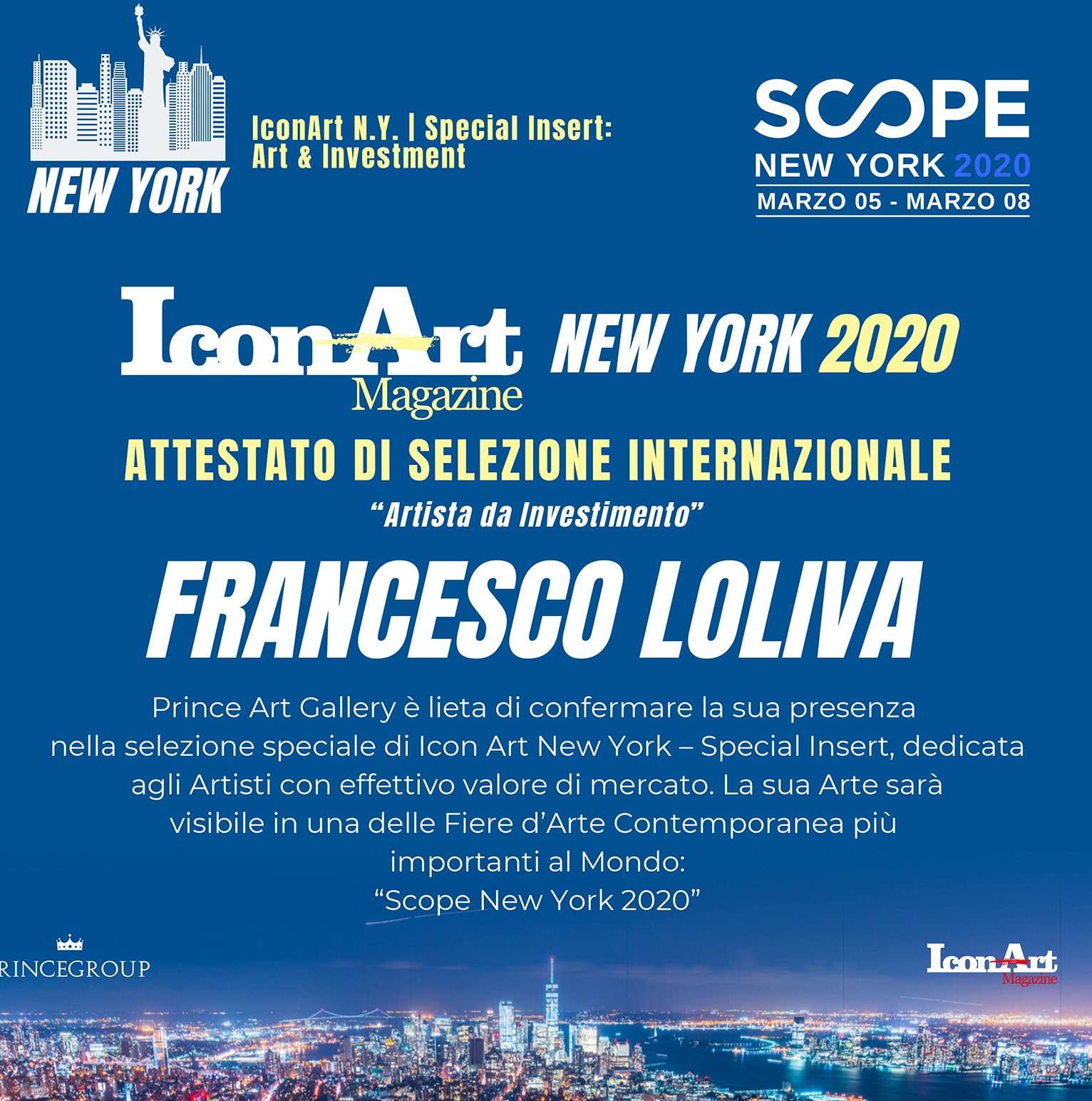 SCOPE ART NEW YORK 5-9 MARZO 2020