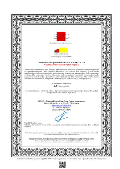 QUOTAZIONE SEAC-GENERATION - https://www.accademia-dellearti.it/catalogo-francesco-loliva/?logout=1