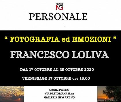 FOTOGRAFIA ED EMOZIONI -NEW ART GALLERY Ascoli Piceno 17 OTTOBRE 2020