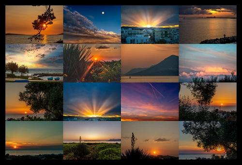COLLAGE: TRAMONTO - Non c'è niente di più musicale che un tramonto. (Claude Debussy)